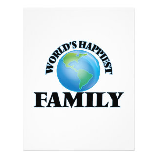 World's Happiest Family 21.5 Cm X 28 Cm Flyer