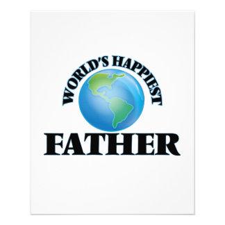 World's Happiest Father 11.5 Cm X 14 Cm Flyer