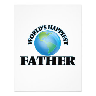 World's Happiest Father 21.5 Cm X 28 Cm Flyer