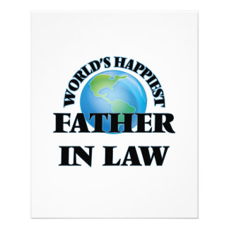 World's Happiest Father-in-Law 11.5 Cm X 14 Cm Flyer