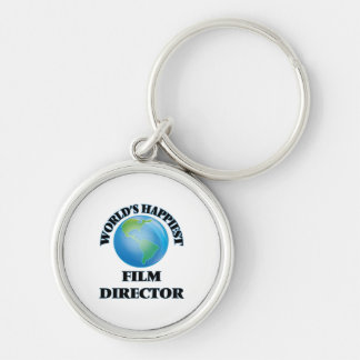 World's Happiest Film Director Silver-Colored Round Keychain