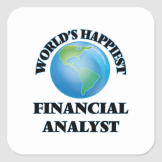 World's Happiest Financial Analyst Square Sticker