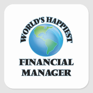 World's Happiest Financial Manager Square Sticker