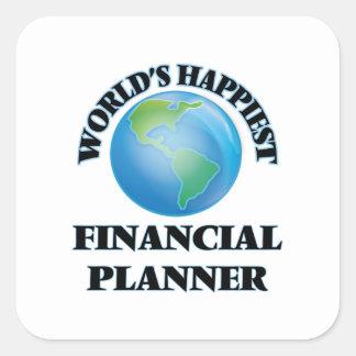 World's Happiest Financial Planner Square Sticker