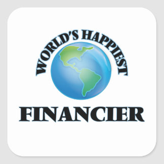 World's Happiest Financier Square Sticker