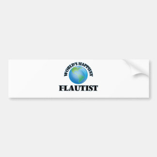 World's Happiest Flautist Bumper Sticker