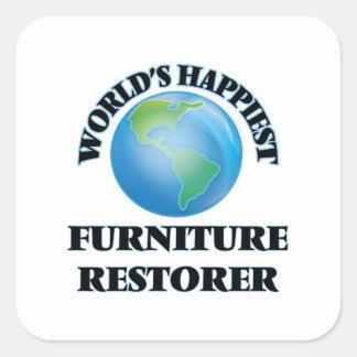World's Happiest Furniture Restorer Square Sticker