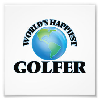 World's Happiest Golfer Art Photo