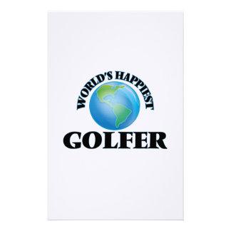 World's Happiest Golfer Stationery