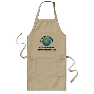 World's Happiest Government Administrator Long Apron