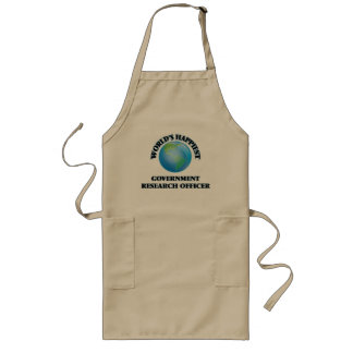World's Happiest Government Research Officer Long Apron