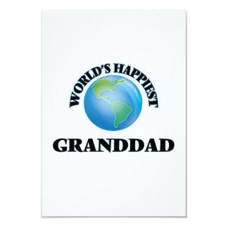 World's Happiest Granddad 9 Cm X 13 Cm Invitation Card