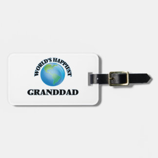 World's Happiest Granddad Luggage Tag