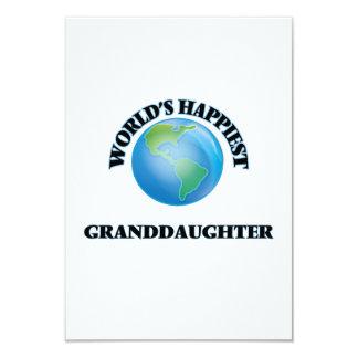 World's Happiest Granddaughter 9 Cm X 13 Cm Invitation Card