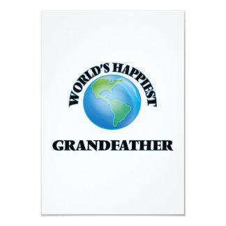 World's Happiest Grandfather 9 Cm X 13 Cm Invitation Card