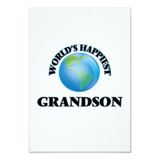 World's Happiest Grandson 9 Cm X 13 Cm Invitation Card