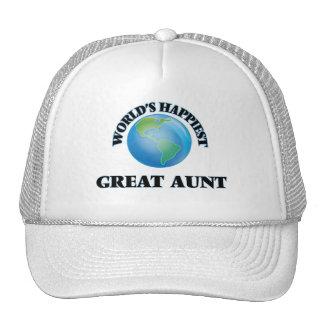 World's Happiest Great Aunt Cap