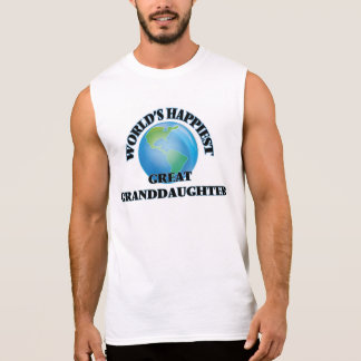 World's Happiest Great Granddaughter Sleeveless T-shirts