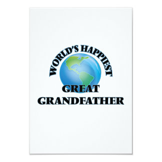 World's Happiest Great Grandfather 9 Cm X 13 Cm Invitation Card