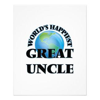 World's Happiest Great Uncle 11.5 Cm X 14 Cm Flyer