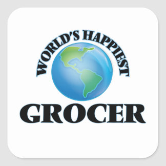 World's Happiest Grocer Square Sticker