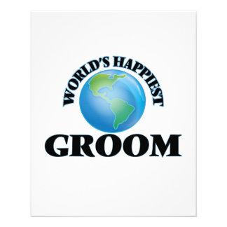 World's Happiest Groom 11.5 Cm X 14 Cm Flyer