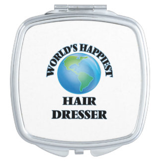 World's Happiest Hair Dresser Compact Mirror