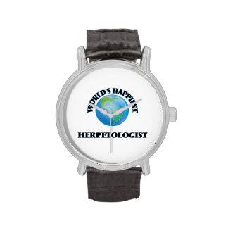 World's Happiest Herpetologist Wrist Watches