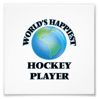 World's Happiest Hockey Player Photo Print