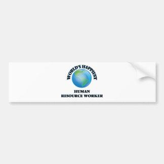 World's Happiest Human Resource Worker Bumper Sticker