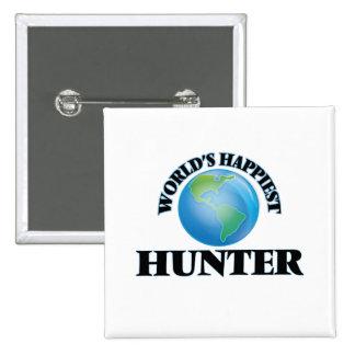 World's Happiest Hunter 15 Cm Square Badge