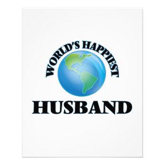 World's Happiest Husband 11.5 Cm X 14 Cm Flyer