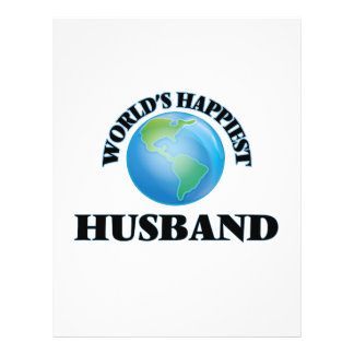 World's Happiest Husband 21.5 Cm X 28 Cm Flyer
