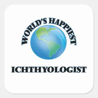 World's Happiest Ichthyologist Square Sticker