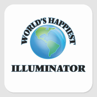 World's Happiest Illuminator Square Sticker