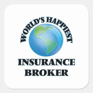 World's Happiest Insurance Broker Square Sticker