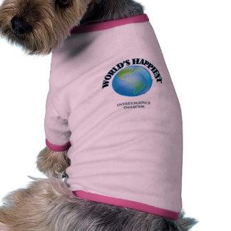 World's Happiest Intelligence Officer Dog T Shirt