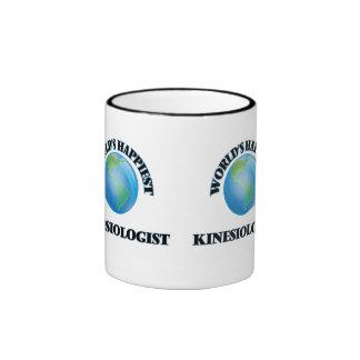 World's Happiest Kinesiologist Ringer Coffee Mug