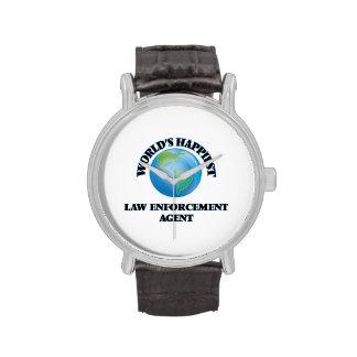 World's Happiest Law Enforcement Agent Wristwatch