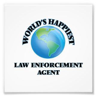 World's Happiest Law Enforcement Agent Photo Print