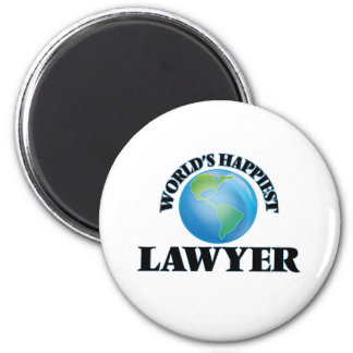 World's Happiest Lawyer 2 Inch Round Magnet