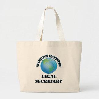 World's Happiest Legal Secretary Jumbo Tote Bag