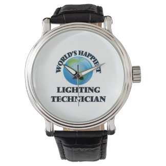 World's Happiest Lighting Technician Wristwatch