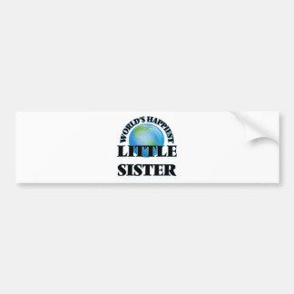 World's Happiest Little Sister Bumper Sticker