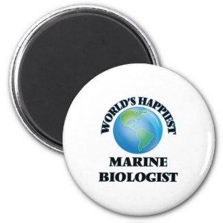 World's Happiest Marine Biologist 6 Cm Round Magnet
