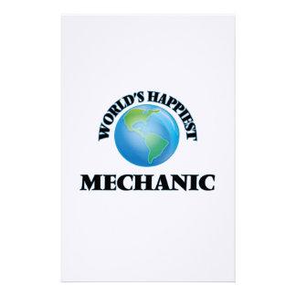 World's Happiest Mechanic Stationery