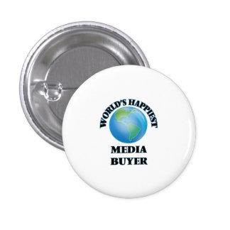 World's Happiest Media Buyer 3 Cm Round Badge