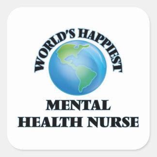 World's Happiest Mental Health Nurse Square Sticker