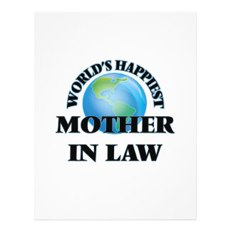 World's Happiest Mother-in-Law 21.5 Cm X 28 Cm Flyer