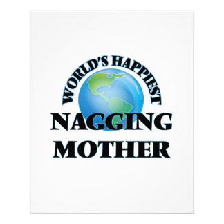 World's Happiest Nagging Mother 11.5 Cm X 14 Cm Flyer